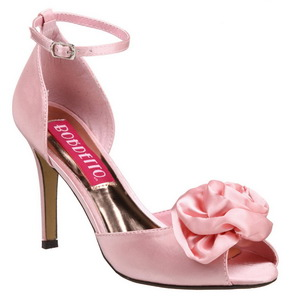 Roze Satijn 9,5 cm ROSA-02 Dames Sandalen met Hak