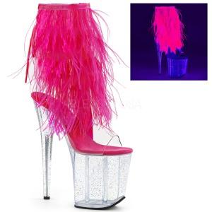 Roze maraboe veren 20 cm FLAMINGO-1017MFF paaldans schoenen met hak