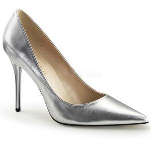 Silver Matte 10 cm CLASSIQUE-20 Pumps High Heels for Men