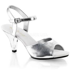 Silver Matte 8 cm BELLE-309 Womens High Heel Sandals