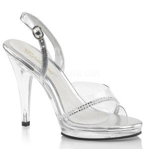Strass steentjes 11,5 cm FLAIR-456 sandalen met naaldhak