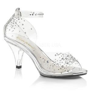 Strass steentjes 8 cm BELLE-330RS high heels schoenen voor travestie