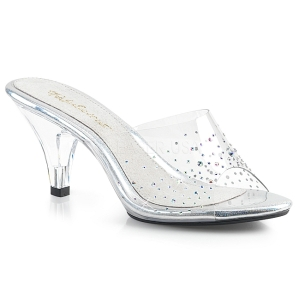 Strass steentjes 8 cm FABULICIOUS BELLE-301SD dames slippers met hak
