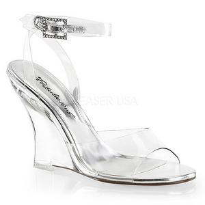 Transparant 10,5 cm LOVELY-406 Hoge Sandalen met Sleehakken