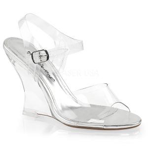 Transparant 10,5 cm LOVELY-408 Hoge Sandalen met Sleehakken
