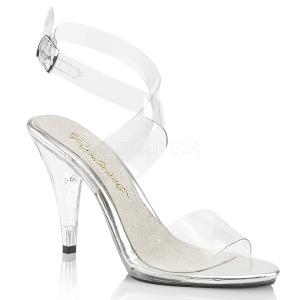 Transparant 10 cm CARESS-412 Hoge avond sandalen met hak