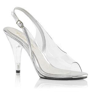 Transparant 10 cm CARESS-450 Hoge avond sandalen met hak