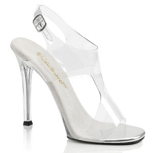 Transparant 11,5 cm GALA-07 Hoge avond sandalen met hak