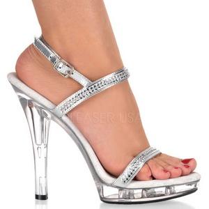 Transparant 13 cm LIP-117 damesschoenen met hoge hak