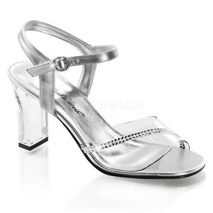 Transparant Steentjes 8,5 cm ROMANCE-308R Hoge Avond Sandalen met Hak