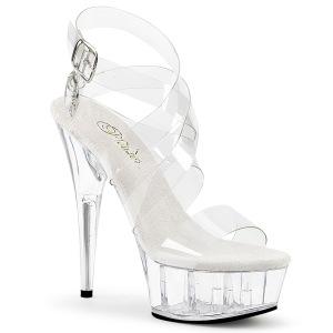 Transparent 15 cm DELIGHT-635 high heeled sandals