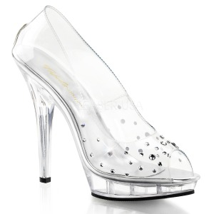 Transparent Crystal 13 cm LIP-182 High Heeled Evening Pumps Shoes