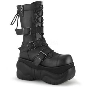 Vegan 10 cm BOXER-230 demonia laarzen - unisex cyberpunk laarzen