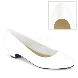 Vegan 3 cm GWEN-01 pumps voor mannen en drag queens in wit