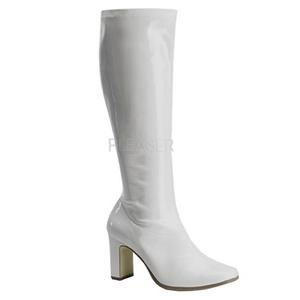 White Shiny 9,5 cm FUNTASMA KIKI-350 Women Knee Boots