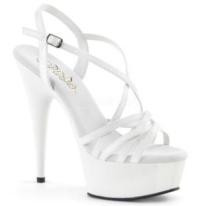 Wit 15 cm Pleaser DELIGHT-613 Sandalen met hoge hakken