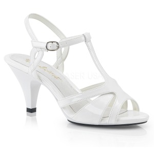 Wit 8 cm BELLE-322 high heels schoenen voor travestie