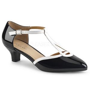 Wit Czarny 5 cm FAB-428 grote maten pumps schoenen