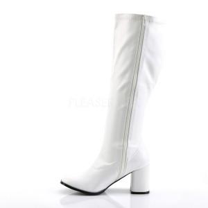 Wit Kunstleer 7,5 cm GOGO-300WC wijde schacht dameslaarzen brede schacht