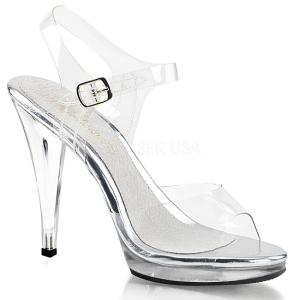 Zilver 11,5 cm FLAIR-408 Dames Sandalen met Hak