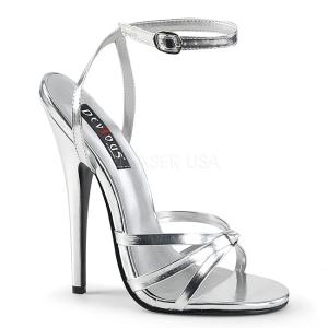 Zilver 15 cm DOMINA-108 high heels schoenen voor travestie