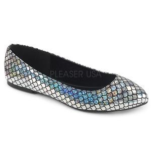 Zilver MERMAID-21 ballerinas platte damesschoenen