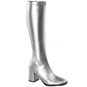 Zilver Mat 7,5 cm Funtasma GOGO-300 Dames Laarzen