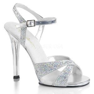 Zilver glitter 11,5 cm Fabulicious GALA-19 sandalen met naaldhak