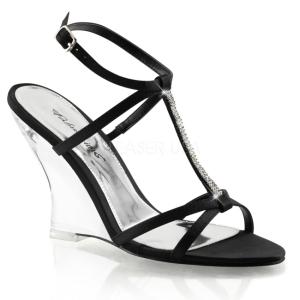 Zwart 10,5 cm LOVELY-428 Hoge Sandalen met Sleehakken