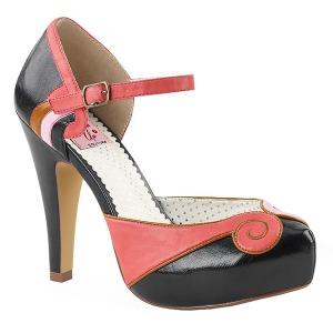 Zwart 11,5 cm BETTIE-17 Pinup pumps schoenen met verborgen plateauzool