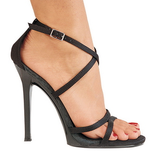 Zwart 11,5 cm GALA-41 Stiletto Sandalen met Hoge Hak