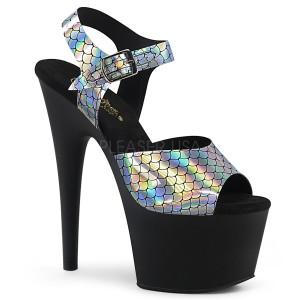 Zwart 18 cm ADORE-708N-MS glitter plateau schoenen met hakken
