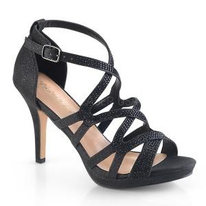 Zwart 9,5 cm DAPHNE-42 Sandalen met stiletto hak