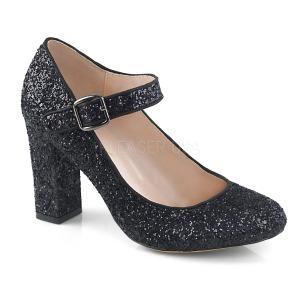 Zwart 9 cm SABRINA-07 pumps schoenen met blokhak