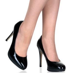 Zwart Lak 11 cm BLISS-30 Pumps Schoenen met Naaldhakken