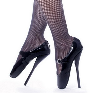 Zwart Lak 18 cm BALLET-08 Fetish Hoge Pumps Schoenen