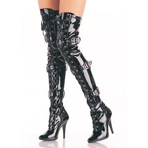 Zwart Lakleer 12,5 cm SEDUCE-3028 Sexy Overknee laarzen