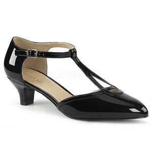Zwart Lakleer 5 cm FAB-428 grote maten pumps schoenen
