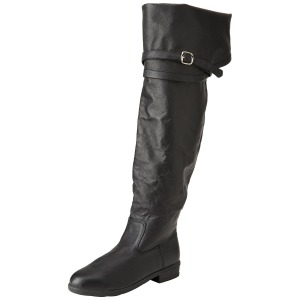 Zwart Leder 4 cm MAVERICK-2045 Overknee Laarzen voor Heren