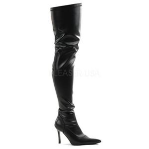 Zwart Mat 9,5 cm LUST-3000 overknee laarzen met hakken