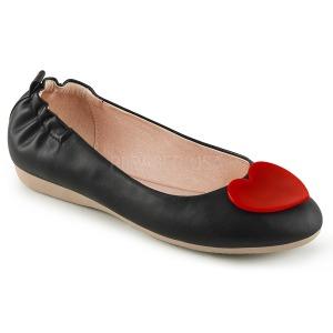 Zwart OLIVE-05 ballerinas platte damesschoenen