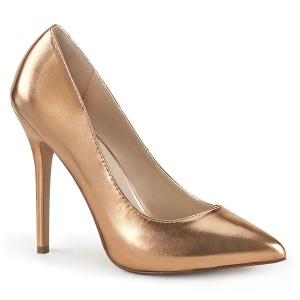 goud rose 13 cm AMUSE-20 Pleaser naaldhak pumps