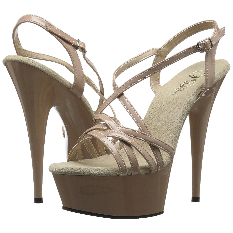 Beige 15 cm Pleaser DELIGHT 613 Sandalen met hoge hakken
