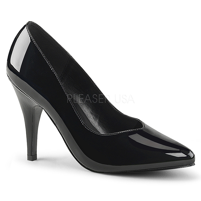 Black Shiny DRE420/B PLEASER big size High Heels Pumps for Men ...