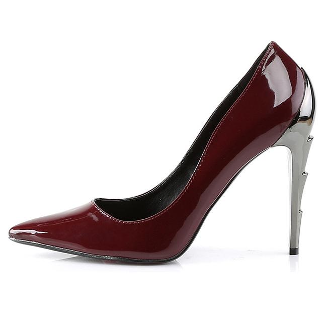 Demonia Voltage 01 high pump with silver stiletto heel