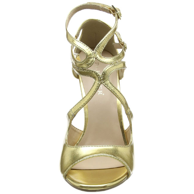 Gold 13 cm Pleaser AMUSE 13 Sandaletten mit high heels
