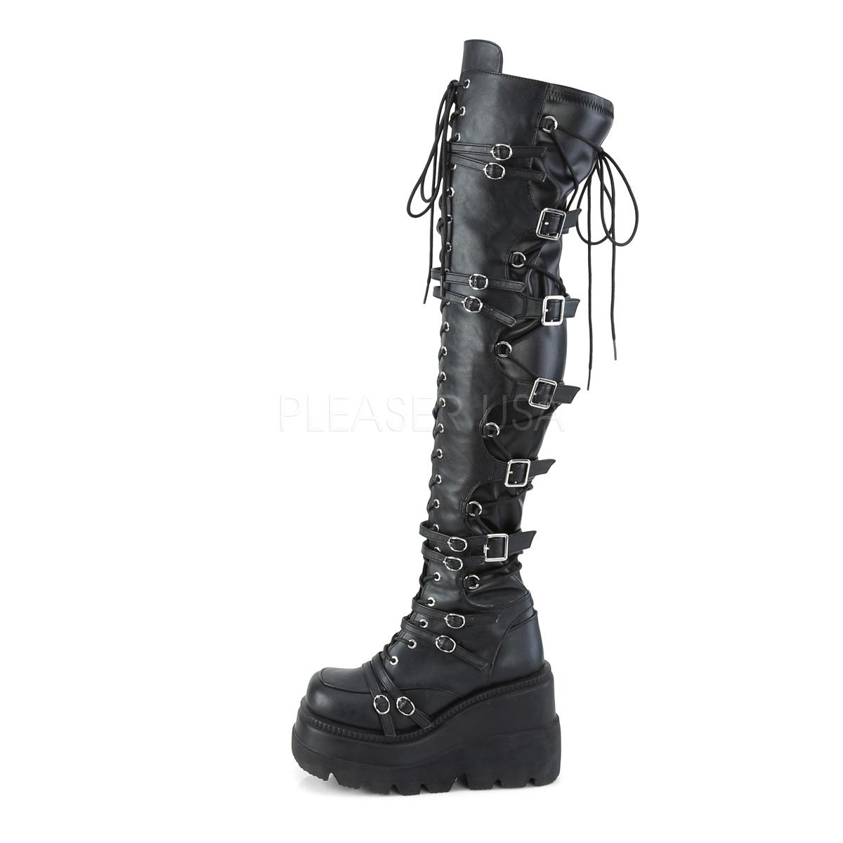 Kunstleer 11,5 cm SHAKER 350 overknee laarzen met plateauzool