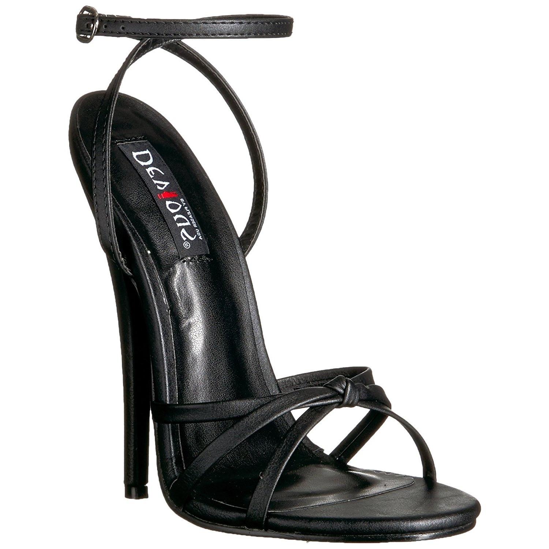 Wit 15 cm Devious DOMINA 108 sandalen met naaldhak