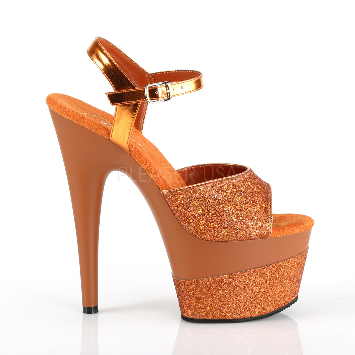 328588fbc3 Orange 18 cm ADORE-709-2G glitter platform sandals shoes