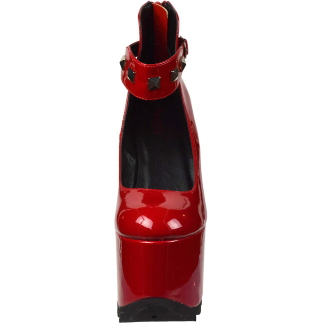 96e54d1a54f Red Patent 16 cm CRAMPS-03 Goth Pumps Shoes